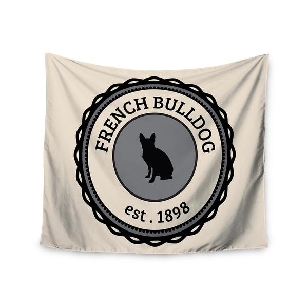 Kess InHouse KESS Original 'French Bulldog' Beige Dog 51x60-inch Wall Tapestry