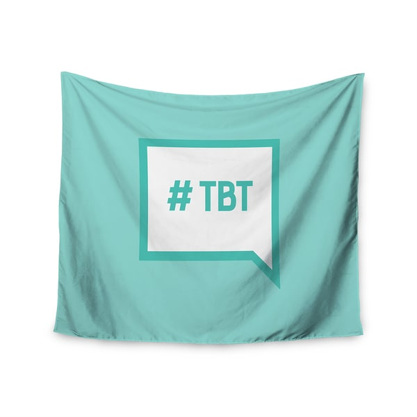 Kess InHouse KESS Original 'Throw Back Thursday' Teal White51x60-inch Wall Tapestry