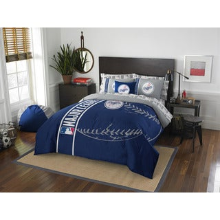 MLB 846 Dodgers Full 7-piece Bed in a Bag with Sheet Set