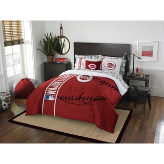 MLB 846 Reds Full 7-piece Bed in a Bag with Sheet Set