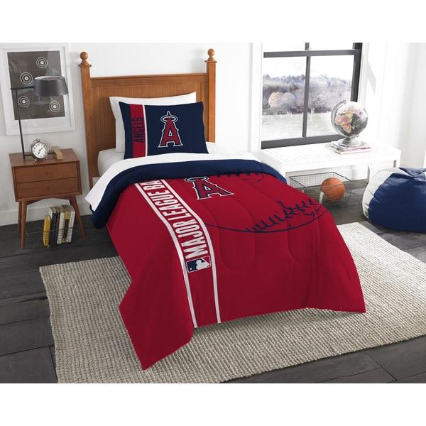 MLB 862 Angels Twin Printed Comforter Set