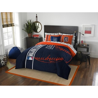MLB 846 Tigers Full 7-piece Bed in a Bag with Sheet Set