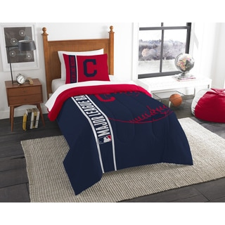 MLB 862 Indians Twin Printed Comforter Set