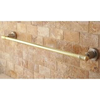 Satin Nickel and Polished Brass 18-inch Towel Bar