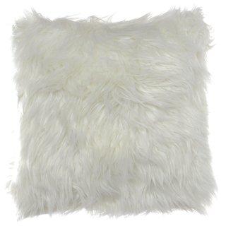 City Scene Faux Fur Decorative Pillow