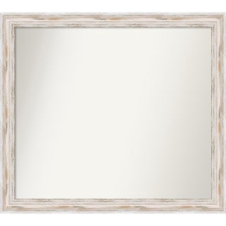 Wall Mirror Choose Your Custom Size - Extra Large, Alexandria White wash Wood
