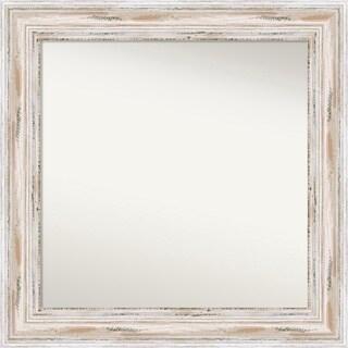 Wall Mirror Choose Your Custom Size - Medium, Alexandria White wash Wood