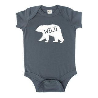 "Rocket Bug ""Wild"" Bear Baby Bodysuit"