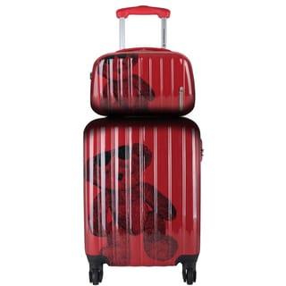 Lulu Castagnette Red 2-piece Hardside Carry-on Spinner Lugguage Set
