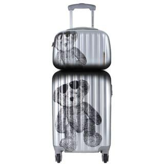 Lulu Castagnette 2-piece Silver Hardside Carry-on Spinner Lugguage Set