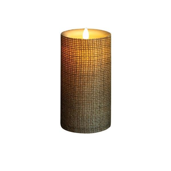 Torchier Off-white Wax Flameless Pillar Candle