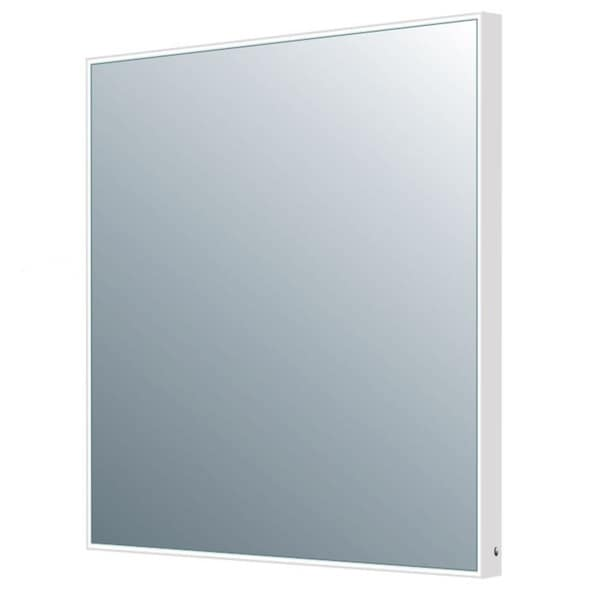 MTD Vanities Encore DL03B Silver Metal 23.6-inch x 23.6-inch Motion Activated Illuminated LED Mirror