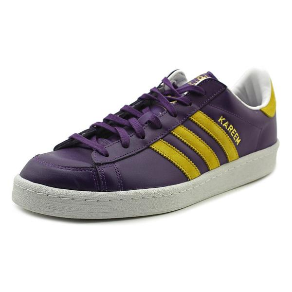 adidas Men's Jabbar Lo Purple Leather Athletic
