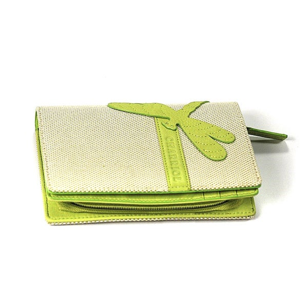 Charriol Escapade III Green Dragonfly Wallet