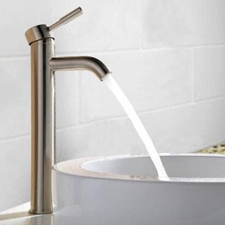 MTD Vanities Haifa Brushed Polished Nickel and Chrome Brass 12-inch 1-hole 1-handle Bathroom Faucet