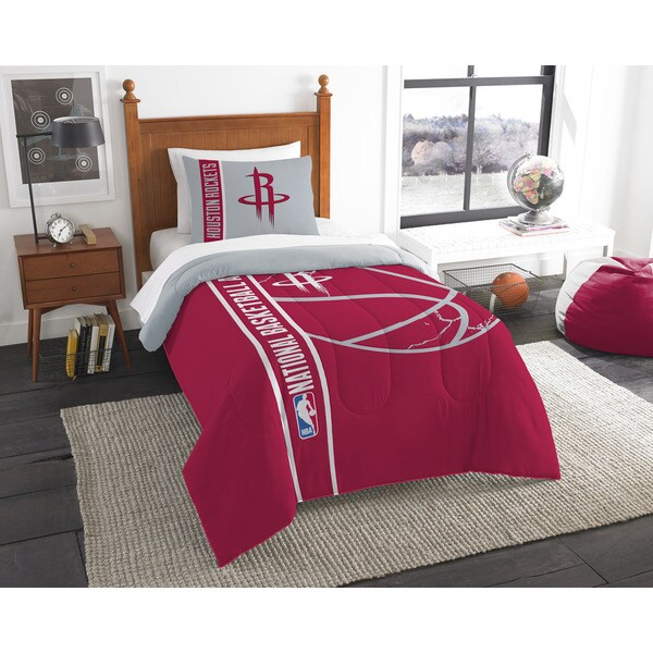 NBA 862 Rockets Twin Printed Comforter Set