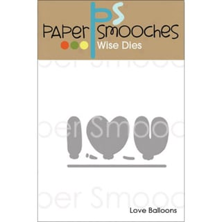 Paper Smooches Die Love Balloons