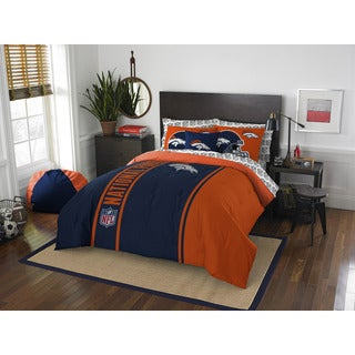 NFL 846 Broncos Full 7-piece Bed in a Bag with Sheet Set