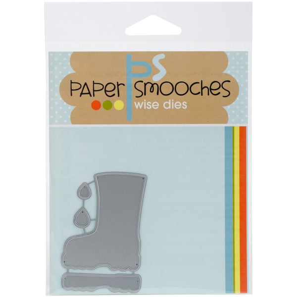 Paper Smooches Die Rain Boot