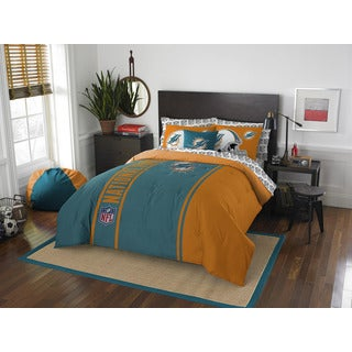 NFL 846 Dolphins Full 7-piece Bed in a Bag with Sheet Set