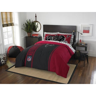 NFL 846 Falcons Full 7-piece Bed in a Bag with Sheet Set
