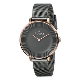 Skagen Women's Ditte Charcoal Grey Stainless Steel Quartz Watch