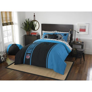 NFL 846 Panthers Full 7-piece Bed in a Bag with Sheet Set
