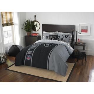 NFL 846 Raiders Full 7-piece Bed in a Bag with Sheet Set