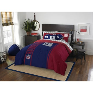 NFL 846 NY Giants Full 7-piece Bed in a Bag with Sheet Set