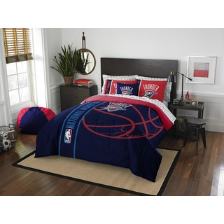 NBA 846 Thunder Full 7-piece Bed in a Bag with Sheet Set