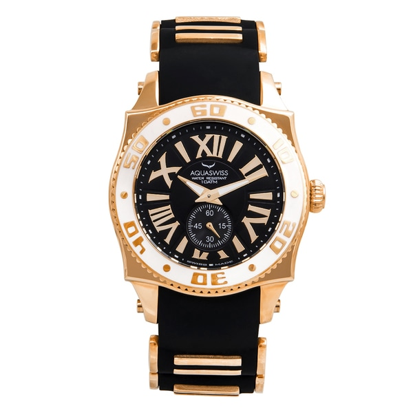Swissport G Unisex Stainless Steel Gold/Black/White Watch