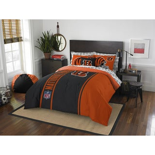 NFL 846 Bengals Full 7-piece Bed in a Bag with Sheet Set