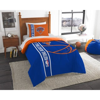 NBA 845 Knicks Twin 5-piece Bed in a Bag with Sheet Set