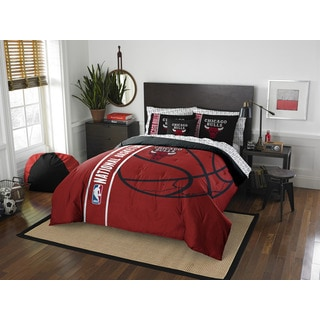 NBA 846 Bulls Full 7-piece Bed in a Bag with Sheet Set