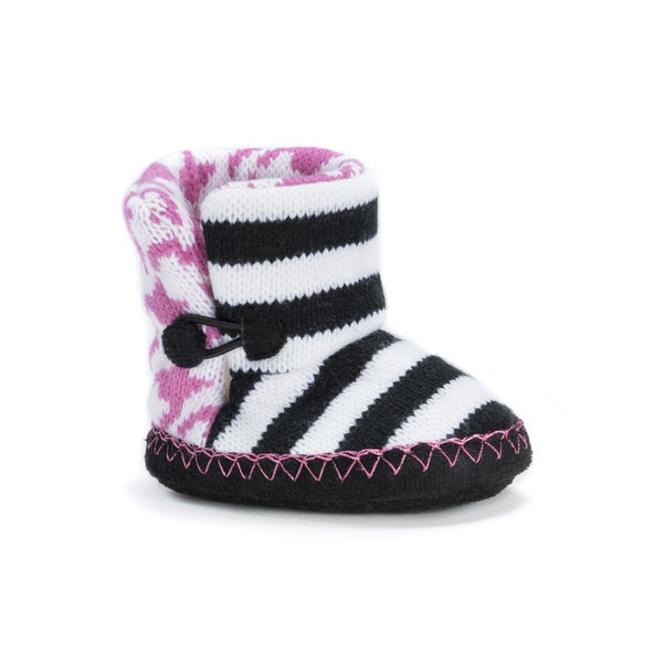 Muk Luks Girls' Pink Baby Slippers