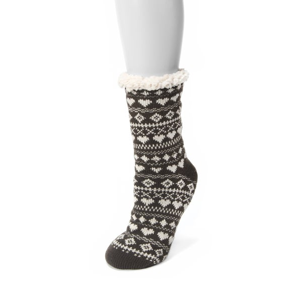 Muk Luks Women's 1-pair Fluffy Cabin Socks