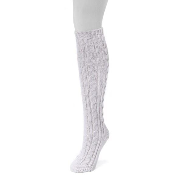 MUK LUKS Women's Purple Acrylic 1-pair Knee High Socks