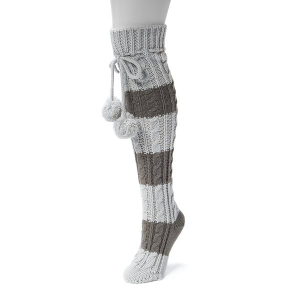 Muk Luks Women's 1-pair Knee-high Cable Socks