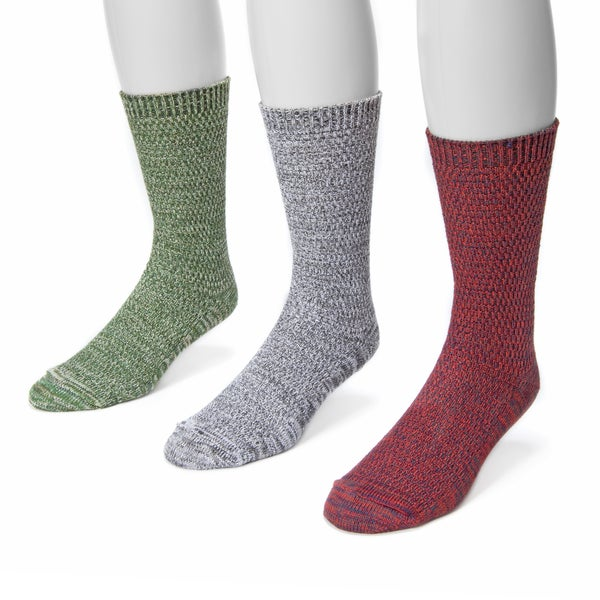 Muk Luks Men's Microfiber 3-pair Marl Sock Pack