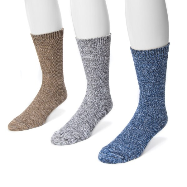 Muk Luks Men's Microfiber 3-pair Marl Sock Pack