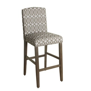 HomePop 29-inch Bar Height Finely Curved Top Barstool