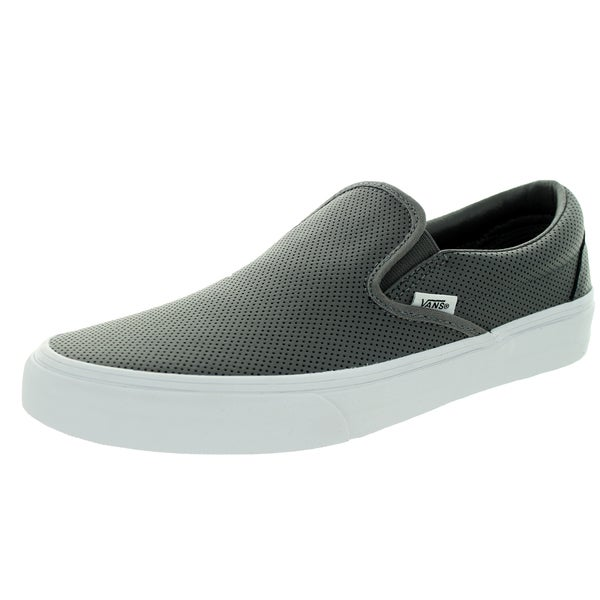 Vans Unisex Classic Slip-On Perforated Leather Smoked Peark Skate Shoe