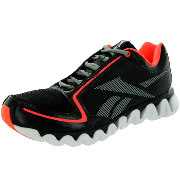 Reebok Men's Ziglite Run Black/Vitamin C/Flt /White Running Shoe