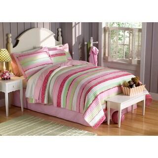 Laura Hart Kids Anna's Ruffles Pink 3-piece Quilt Set
