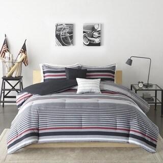 Intelligent Design Jason Black/ Red Comforter Set