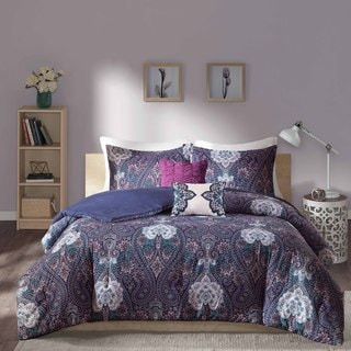 Intelligent Design Neeva Purple Comforter Set