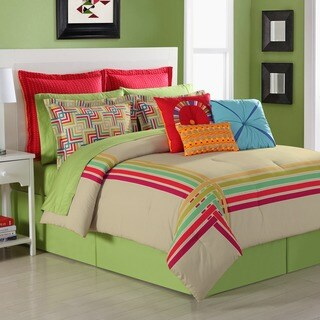 Salaya Comforter set with Bedskirt by Fiesta