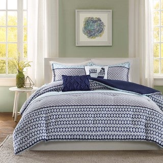Intelligent Design Clarissa Blue 5-piece Comforter Set