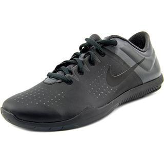 Nike Women's Studio Trainer Black Faux Leather Athletic Shoes