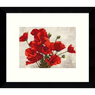 Jenny Thomlinson 'Bouquet of Poppies' 11 x 9-inch Framed Art Print